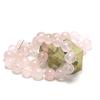 """Collier pierre naturelle quartz rose """" perle ronde 14 mm """""""