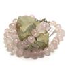 """Collier quartz rose ' rondelle baroque """""""