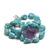 """Collier turquoise """" galet brut"""""""