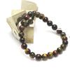 """bracelet """"trois oeil """" , perle ronde 8 mm"""