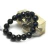 """Bracelet onyx, """" perle ronde facettée 12 mm"""""""