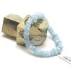 """bracelet aigue-marine , """" rondelle baroque facettée """""""