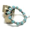 "bracelet amazonite , ""ronde 10 mm -perle argentée"""