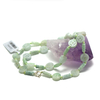 """collier jade , """" tube motif - palet rond motif"""""""