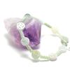 "bracelet jade , "" perle tube motif - palet rond motif"""