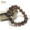 """bracelet quartz fumé """"ronde 12 mm"""", pierre naturelle"""