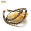 """collier quartz fumé """"perle ronde 6 mm"""""""