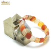"bracelet cornaline plaquette "" rectangle en biais"""