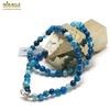 "collier agate teinté bleu ""ronde 6 mm"""