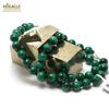 """collier malachite """" perle ronde 8 mm"""""""