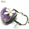 """bracelet  jade sur cordon """" fleur"""""""