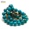 """collier turquoise """" perle ronde 12 mm """""""