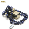 "collier long sodalite ""perle ronde 10-8 mm"""