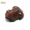 """statuette minéraux """"grenouille"""" en pierre naturelle de jaspe rouge"""