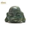 """statuette minéraux """"tête de bouddha"""", pierre naturelle d'agate mousse"""
