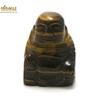 """statuette minéraux """" bouddha"""" en pierre naturelle de l'oeil du tigre"""