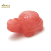 """Magnifique statuette """"tortue"""" en pierre naturelle de quartz strawberry"""