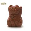 """Magnifique statuette """"chat de fortune"""" en pierre naturelle de pierre de soleil"""