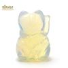 """Magnifique statuette """"chat de fortune"""" en pierre naturelle d'opaline"""