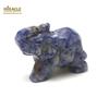 """Magnifique statuette """"éléphant"""" en pierre naturelle de sodalite"""