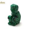 """Magnifique statuette """"singe"""" en pierre naturelle de malachite"""