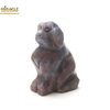 """Magnifique statuette """"chien"""" en pierre naturelle d' agate"""