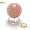 Superbe sphère minéraux en quartz rose 5.4 cm