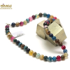 """collier agate teintée multicolore """"ronde 8 mm """""""