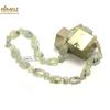 """Collier préhnite, perle """"palet rectangle facettée-perle ronde 8 mm"""""""