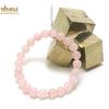 """bracelet quartz rose ,perle """"ronde 8 mm"""""""
