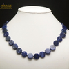 "collier sodalite, perle ""palet rond"""