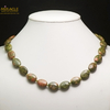 """collier unakite, perle """"palet oval"""""""