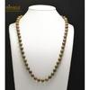 """collier mi-long unakite, perle """"ronde 10 mm"""""""