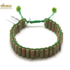"""bracelet unakite, perle """"tube style shamballa"""""""