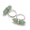 "Bague en pierre naturelle d'aventurine ""double pointe"""
