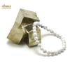 "bracelet howlite, perle ""ronde 6 mm"""