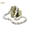 "Collier howlite, ""perle ronde 10 mm"""