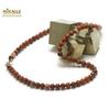 """collier en jaspe rouge, perle """"ronde 6 mm"""""""