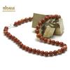 """collier en jaspe rouge, perle """"ronde 8 mm"""""""