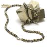 """collier en jaspe dalmatien, perle """"ronde 4 mm"""""""