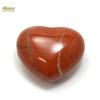 """Magnifique statuette """"coeur"""" en pierre naturelle de jaspe rouge"""