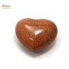 """Magnifique statuette """"coeur"""" en pierre naturelle de pierre de soleil"""