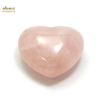 """Magnifique statuette """"coeur"""" en pierre naturelle de quartz rose"""