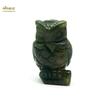 """Magnifique statuette """"chouette"""" en pierre naturelle d'agate mousse"""