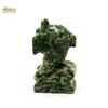 """statuette minéraux """"dauphin"""" en pierre naturelle d'agate feuille"""
