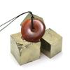 """pendentif/collier cornaline """"donut 30 mm"""", pierre naturelle"""