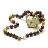"""collier en jaspe mokaïte, perle """"ronde 10 mm"""""""