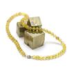 """collier quartz rutile """"perle ronde 6 mm"""""""