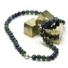 """collier azurite-malachite """"perle ronde 8 mm"""""""