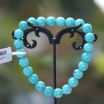 ronde 10 mm 2 bracelet en pierre naturelle de turquoise